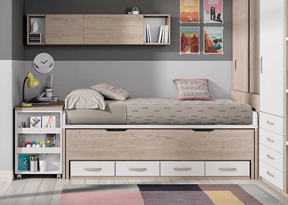 Cama compacta - Dormitorios infantiles dobles ...