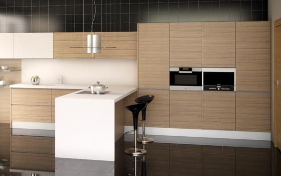Cocinas for Cocina con electrodomesticos de color negro