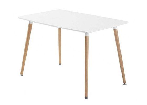 Mesas for Mesa blanca y madera