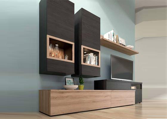 muebles salon de madera