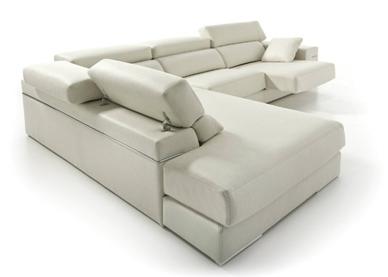 chasiselongue fiesta color beige con respaldo de rinconera respaldo reclinable