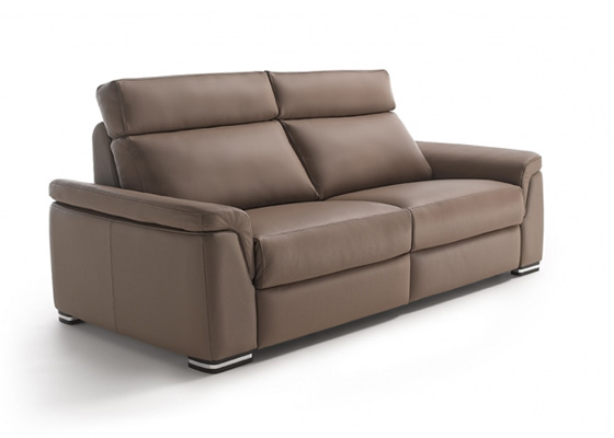 sofa 3 plazas marron chocolate modelo galiano