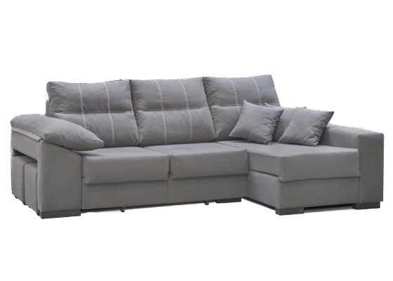 chaiselongue cama color gris extensible barato color gris