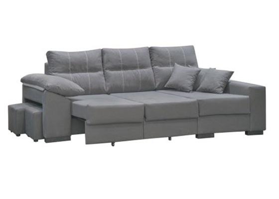 chaiselongue cama color gris extensible barato
