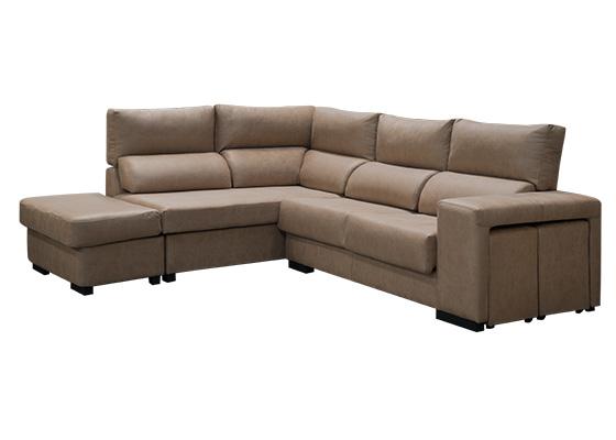 sofa rinconera con puff modelo chiclana