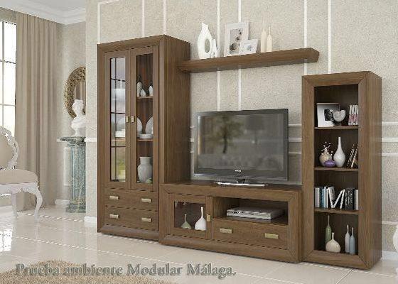 mueble de salon de madera cadiz 1
