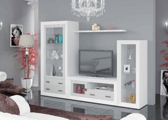 mueble salon color blanco coleccion mar 1