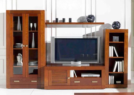 mueble salon color cerezo coleccion mar 1