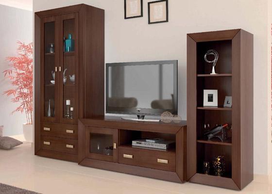 mueble salon color pardo coleccion mar 1