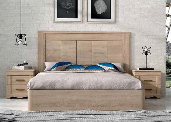 dormitorio de matrimonio de madera coleccion torre 02