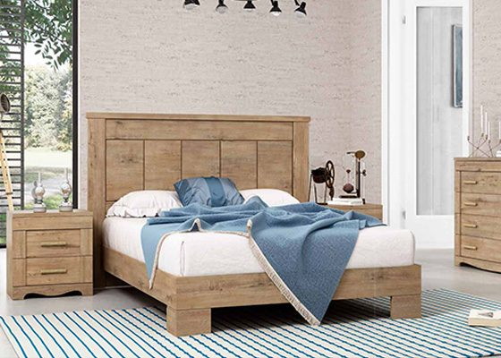 dormitorio de matrimonio de madera coleccion torre 04