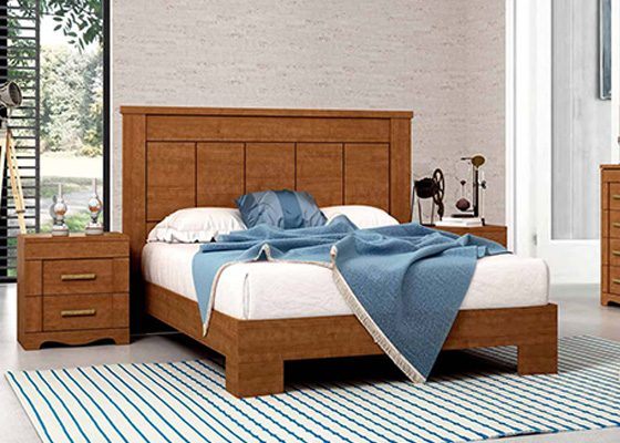 dormitorio de matrimonio de madera coleccion torre 06