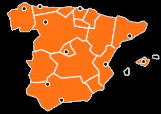 mapa de centros logisticos