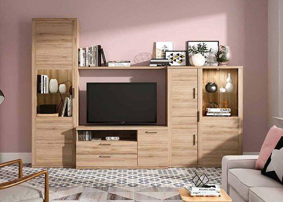 mueble de salon de madera coleccion KRONOS 04 1