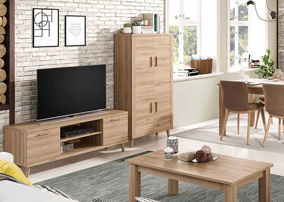 mueble de salon de madera coleccion KRONOS 07 1