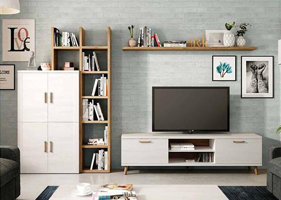 mueble de salon de madera coleccion KRONOS 08 1
