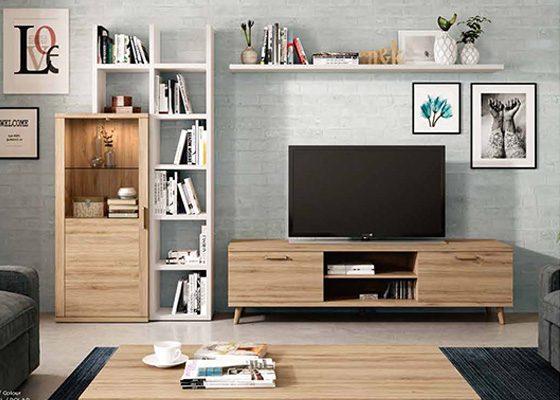 mueble de salon de madera coleccion KRONOS 09 1