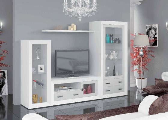 mueble salon color blanco coleccion mar 1 1
