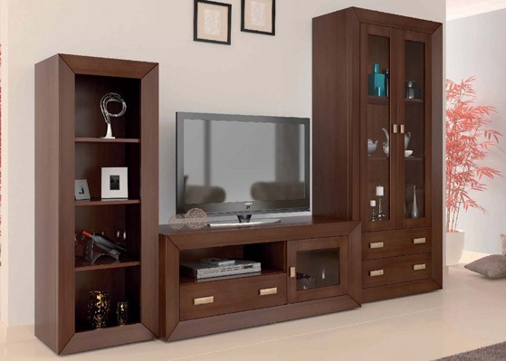 mueble salon color pardo coleccion mar 1