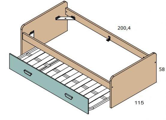 Cama nido 105 cm for Estructura cama nido 105